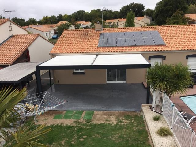 Pergola bioclimatique à Derval – 44590