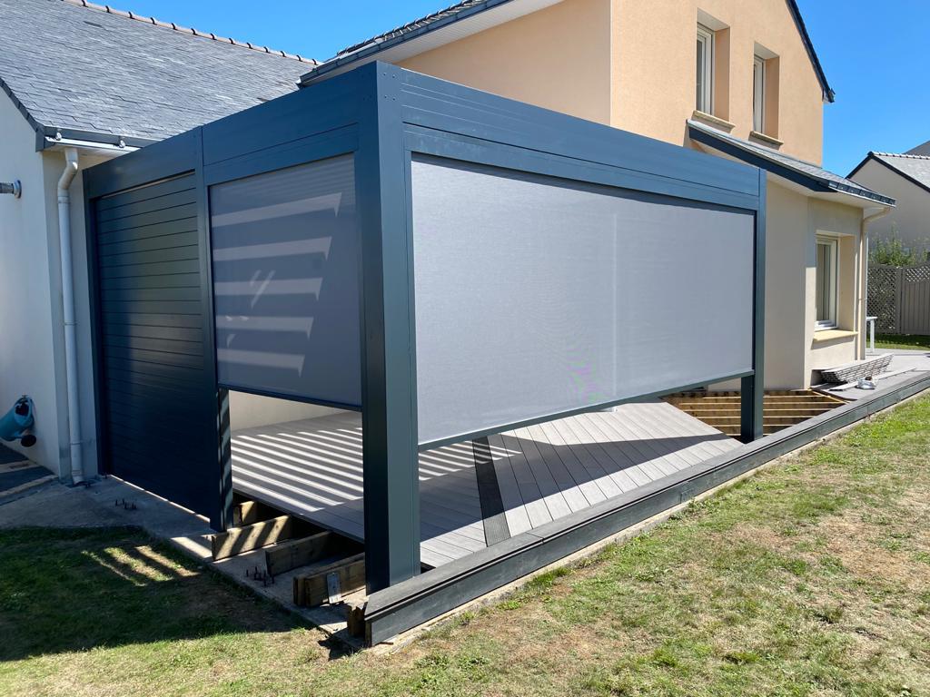 Pergola Bioclimatique Sainte Luce Sur Loire aluminium Solisysteme