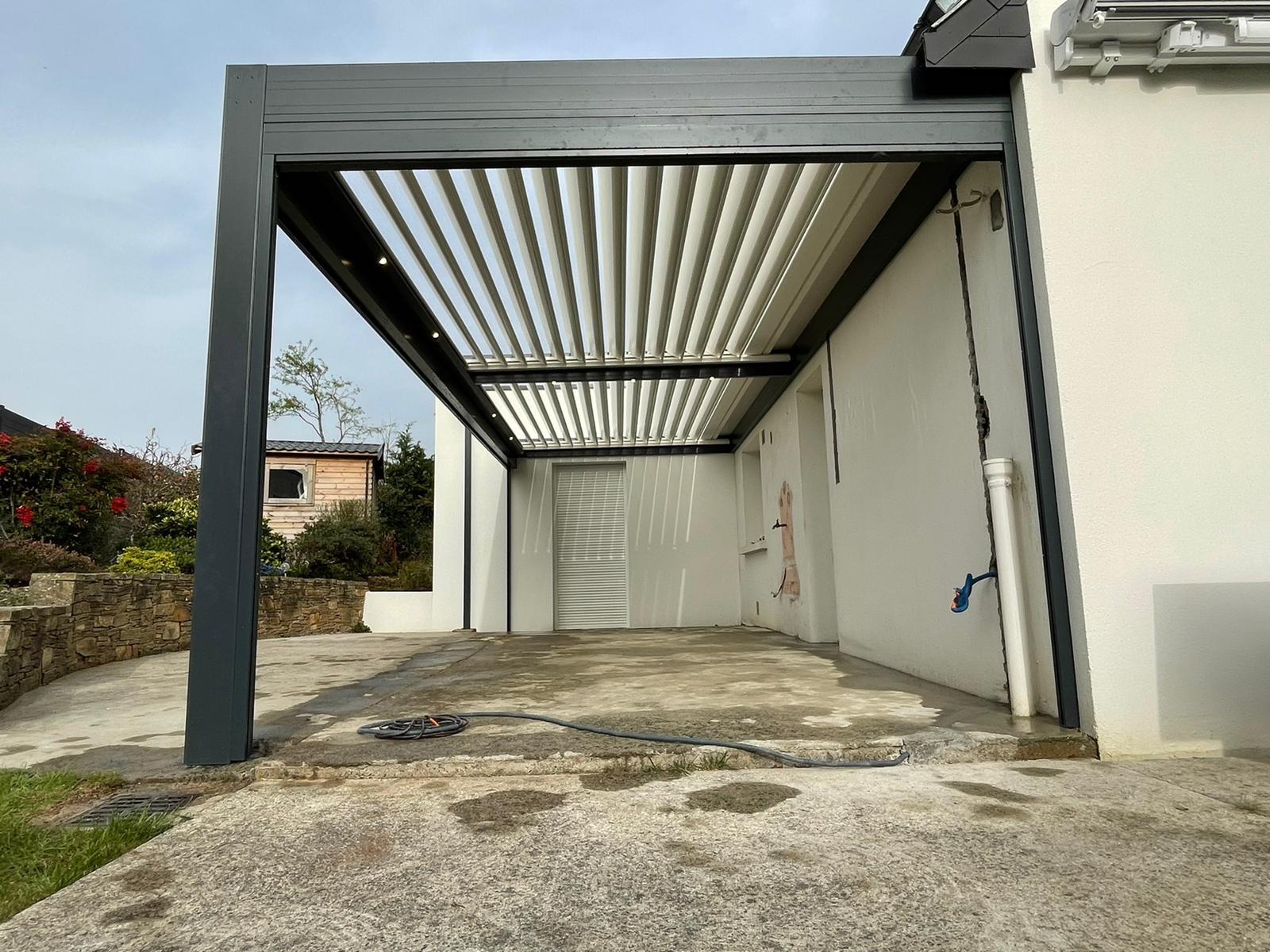 Pergola Bioclimatique aluminium Solisysteme Treillieres - Orvault - Nantes
