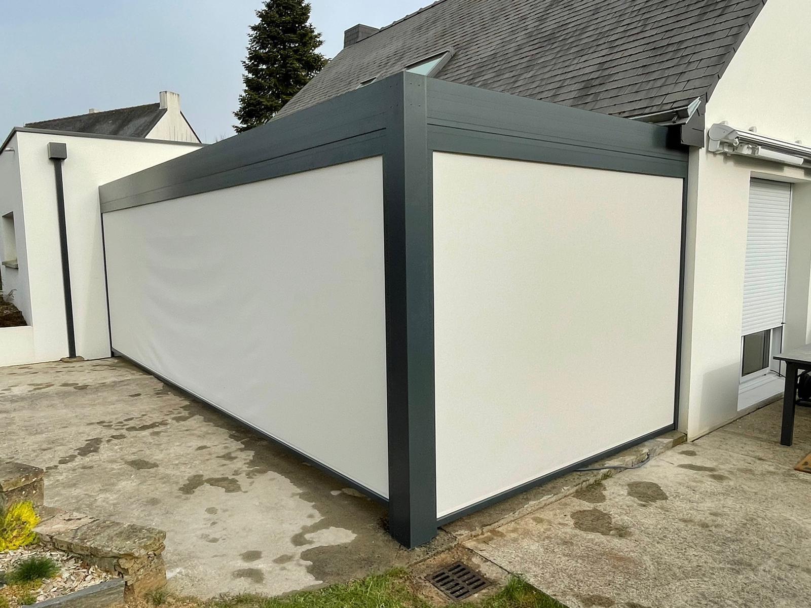 Pergola Bioclimatique aluminium Solisysteme Treillieres - Orvault - Nantes 1